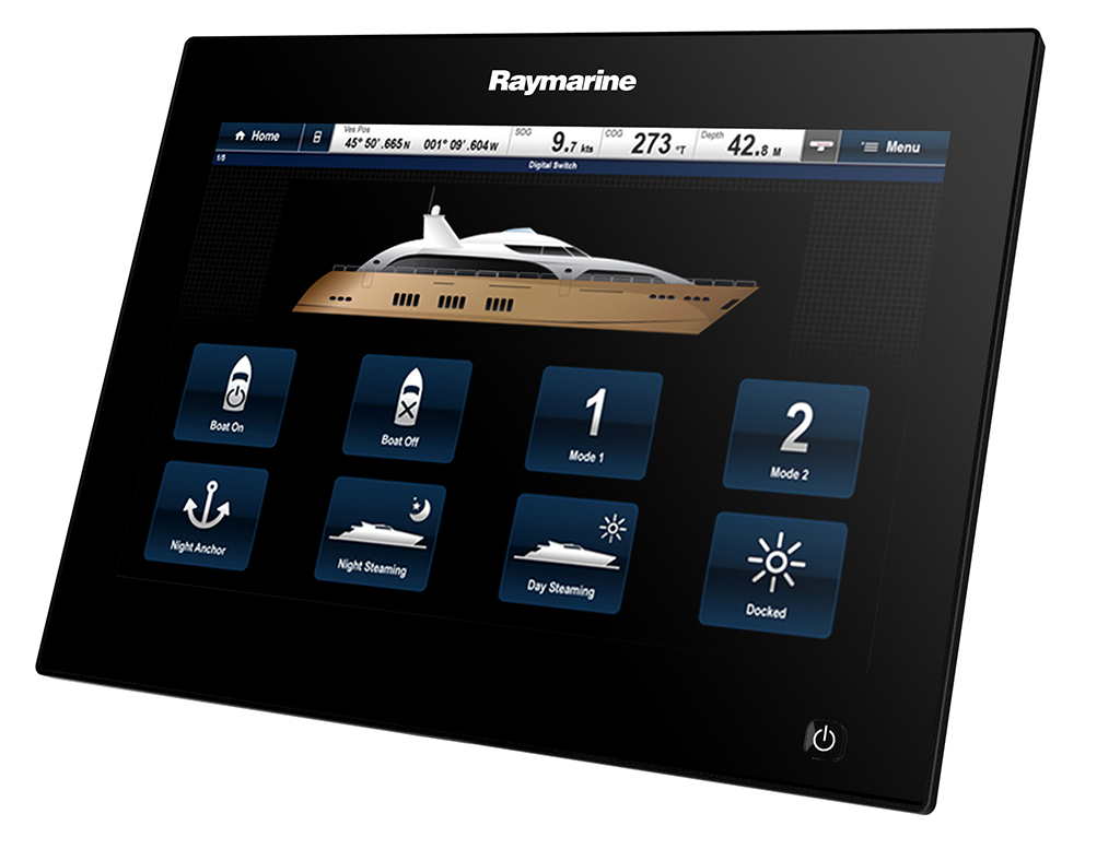 Figure 3 - MFD-based controls can be highly customized to suit the needs and tastes of the boat owner | Raymarine - A Brand by FLIR