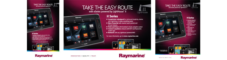 eSeries Take the Easy Route Ads | raymarine