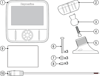 Dragonfly 5M Parts List | Raymarine Dragonfly