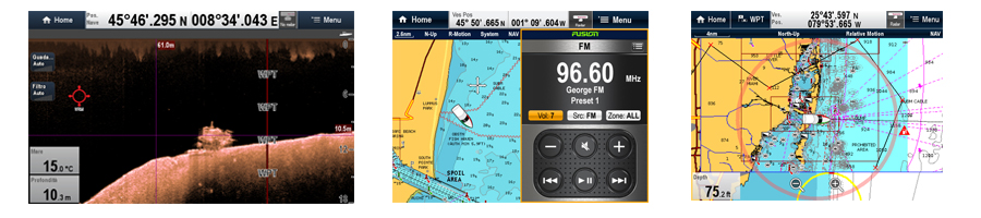 aSeries screen captures | Raymarine