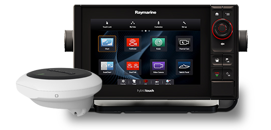 Raymarine eS series, es97 MFD Control and engage with evolution Autopilots directly from eS series.  ClearPulse Sonar 9' display Hybrid Touch