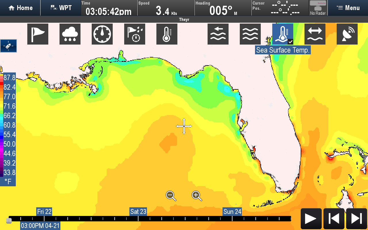 Sea Surface Temperature | Raymarine by FLIR