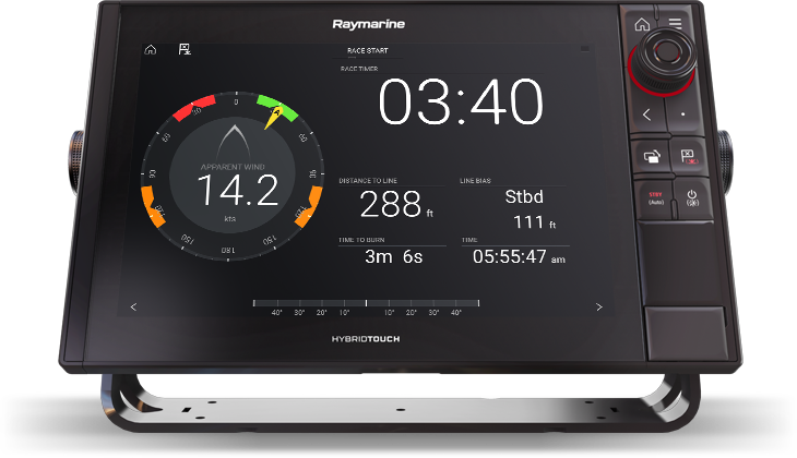 LightHouse 3.10 Advanced Sailing Features - SmartStart Start Line | Raymarine - A Brand by FLIR