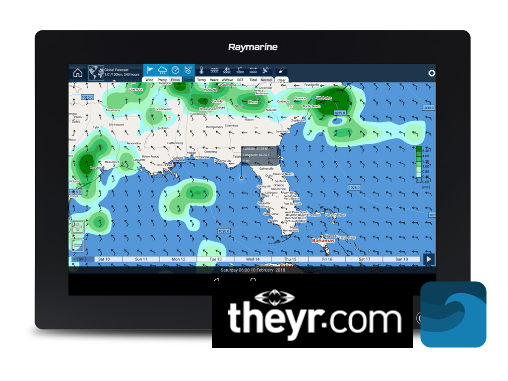 LightHouse 3.4 - Stay Informed with LightHouse Weather and Tide Apps | Raymarine - A Brand by FLIR